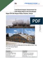 Eia_846 Study Report - Kenolkobil Lpg Filling Plant in Kisumu Ju