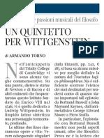 Nelle Lettere Le Passioni Musicali Di Ludwig Wittgenstein - Corriere Della Sera Ed.nazionale 12.01.2013
