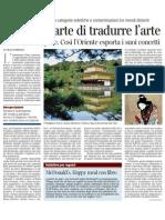 Lo zen e l'arte di tradurre l'arte di GILLO DORFLES - Corriere Della Sera Ed.Nazionale 12.01.2013