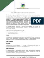Edital seleção pública da Prefeitura de Taquaritinga do Norte