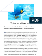 Twitter - Guida rapida all' uso