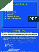 Dynamic Binding  in java ppt