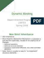 Dynamic Binding in java pdf