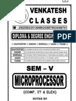 MICROPROCESSOR - (SEM- V) Comp,IT& Elex -Venkatesh Classes.