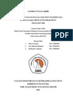 PEMBUATAN DAN ANALISIS NATA DE BANANA SKIN DENGAN STANDAR MUTU SNI 01-4317-1996