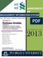 Management Information System Practice of Standard Chartered Bank Bangladesh