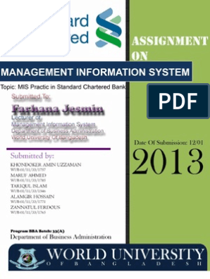 Management Information System Practice of Standard Chartered