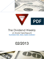Dividend Weekly Stock Report 01/2013 By http://long-term-investments.blogspot.com