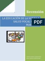 Recensión    La educación de la voz y la salud vocal de los maestros