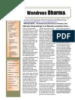Wondrous Dharma Issue 35 - February 2013