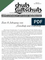 Gasschutz und Luftschutz 8.Jahrgang 1938 / Zeitschrift für das gesamte Gebiet des Gas- und Luftschutzes der Zivilbevölkerung