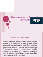 Hipermedia en la Educación a Distancia