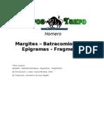 Homero - Margites Batracomiomaquia Epigramas y Fragmentos