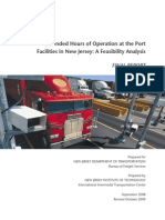 Extended Hours of Operation at the Port Facilities in New Jersey - A Feasibility Analysis