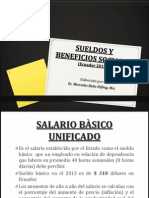 Sueldos y Beneficios Sociales