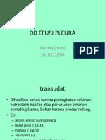 diagnosis banding efusi pleura