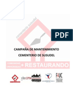 Campaña de mantenimiento del Cementerio de Susudel, Cuenca-Ecuador