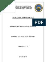 Capitulo de Optimizacion de Funciones e Integrales