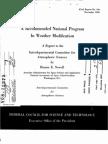 Documento ufficiale risalente al 1966,che delinea le attività di modificazione meteo-climatica e le loro devastanti implicazioni
