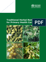 101915893 Traditional Medicine Traditional Herbal Medicines for Primary Health Care