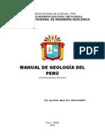 Manual de Geologia Del Peru