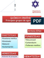 Principais grupos de agrotóxicos