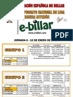 Resultados J6 LN3B Primera División