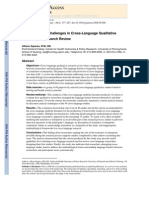 Methodological Challenges in Cross-Language Qualitative