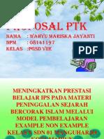 PPT PTK Benar Wahyu Mariska Jayanti 08141197 PGDD 7E