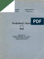 Harold Gardiner SWEDENBORG's SEARCH FOR THE SOUL The Swedenborg Society London 1936