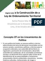 Aportes Ley OT. Karina Pinasco