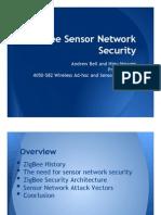 ZigBee Sensor Network Security Presentation