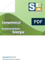 Asignación competencial y distribución de responsabilidades en el sector de Energía