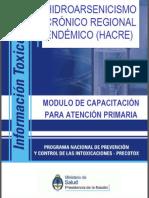Hidroarsenicismo Crónico Crónico Endémico - Ministerio de Salud de la Nación-