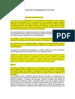 Derecho de la  competencia Perú