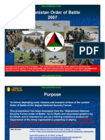 Afghan order of battle 2007
