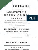 Aristóteles Obras completas en griego y latín vol. 2