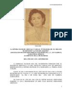 DATOS BIOGRAFICOS DE LA SEÑORA MATILDE ARICEAGA DE FERNANDEZ
