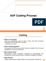 AAF Costing Process