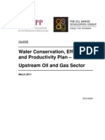 Water Conservation, Efficiency and Productivity Plan - Upstream Oil and Gas Sector