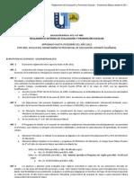 Reglamento de evaluación