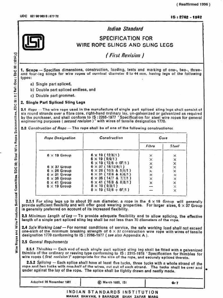 Perfect Iwrc Wire Rope Specification Ensign - The Wire - magnox.info