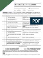 Short Portable Mental Status Questionaire (SPMSQ)