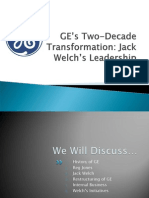 GE s Two-Decade Transformation