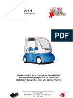 Implémentation de la commande d'un véhicule électrique autonome grâce à un capteur de distance et d'angle basé sur une caméra linéaire