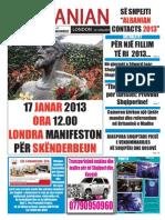 The Albanian London 10th of January 2013