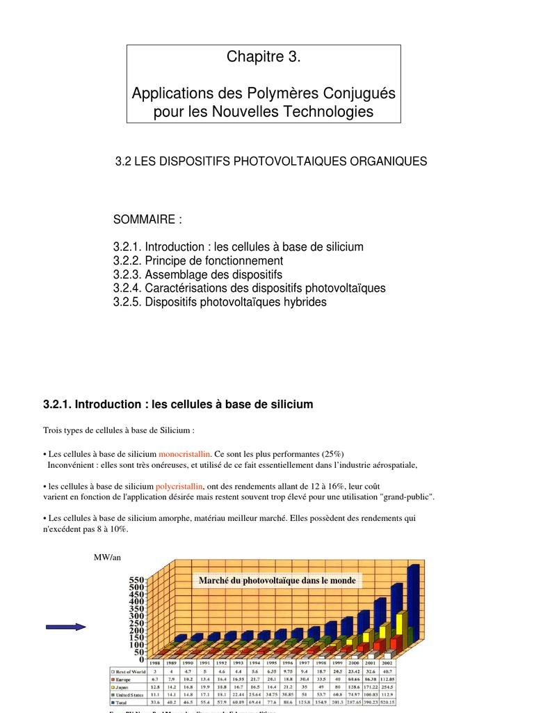 Cellule Photovoltaïque En Silicium Amorphe dedans dispo photovoltaique