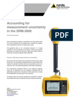 Accounting for Measurement Uncertainty in the SRM-3000