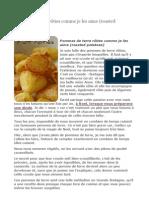 Pommes de terre rôties comme je les aime (roasted potatoes).