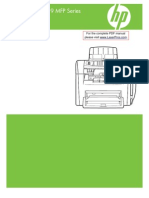 Hp Lj m1319 Mfp Manual Toc